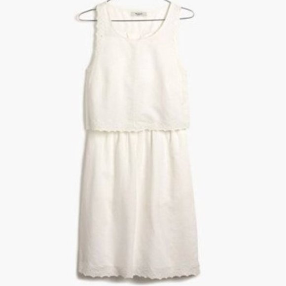 Madewell Dresses & Skirts - MADEWELL - Eyelet Open Back Overlay Dress Size 4